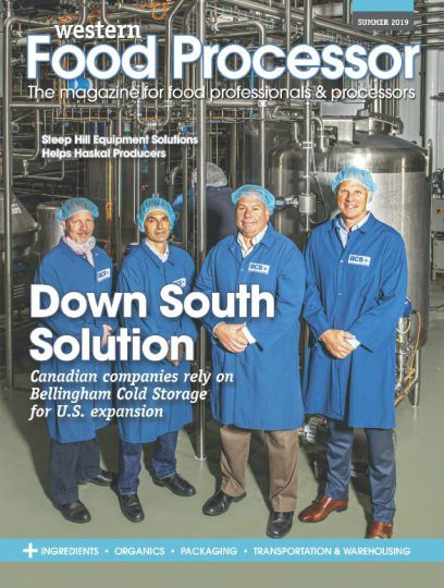 Cover of Western Food Processor Magazine showing some BCS employees.