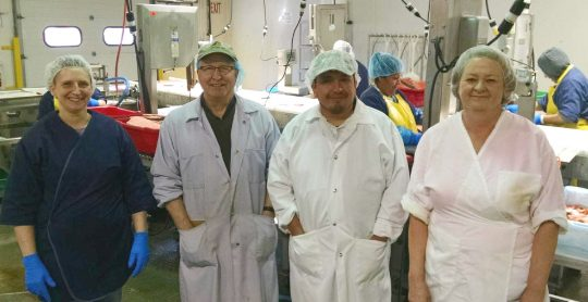 Left to right: QSea employees Debbie Matthews, Tom Scott, Omar DeLeon and Arleen Brooks.