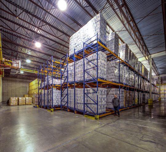 Racks of dry storage at BCS.