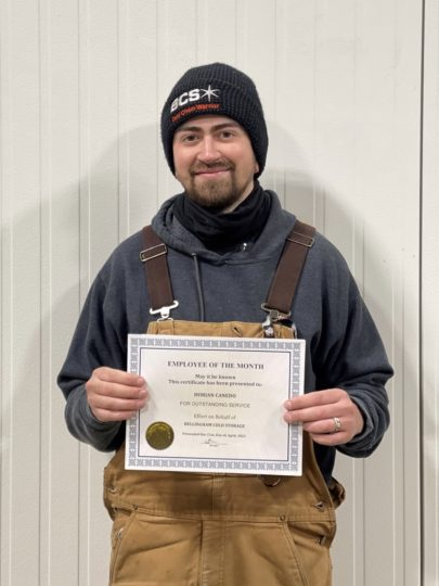 Bellingham Cold Storage April Employee of the Month 2021